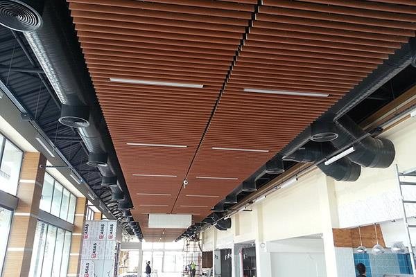 Wooden Baffle Suspended Ceiling Systems
